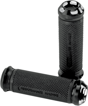 Performance Machine Harley Elite Apex Dual Cable Grips (Choose Finish)
