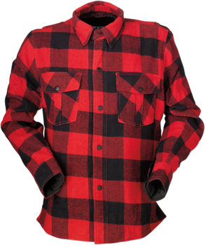 Z1R - The Duke Red/ Black Flannel Shirt