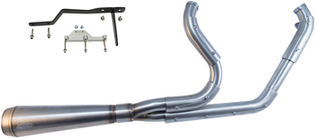 Trask - Assault 2 into 1 Stainless Exhaust - fits '99-'06 FLHR/FLHT/FLHX/FLTRU Models