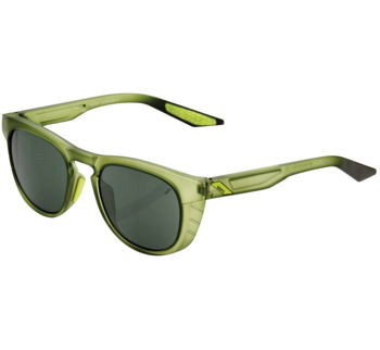 100% Slent Sunglasses Olive with Grey/ Green Lens
