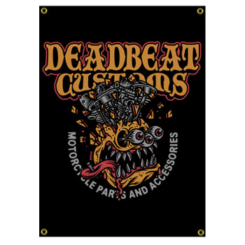 Deadbeat Customs - Exploding Head 4' X 2' Shop Banner