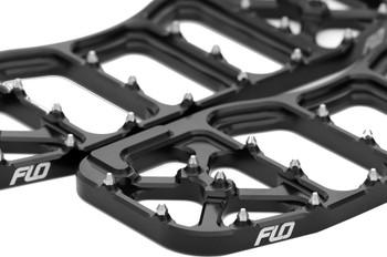 Flo Motorsports V5 Moto Floorboards Black fits Harley Touring
