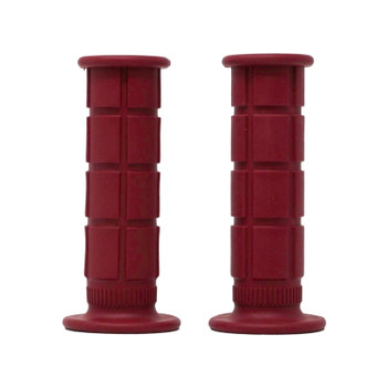 "Deadbeat Customs Moto Grips 1"" Oxblood"