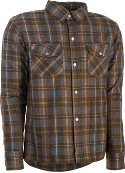 Highway 21 Marksman Riding Flannel - Brown/Tan