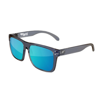 Flight Eyewear Benny Shades - Crystal Gray Frames/ Blue Lens