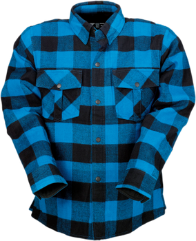 Z1R Duke Blue/Black Flannel Shirt