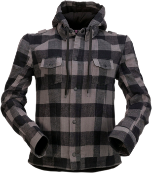 Z1R Women's Timberella Flannel Shirt - Gray/Black