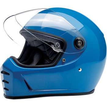 Biltwell Lane Splitter Helmet - Gloss Tahoe Blue