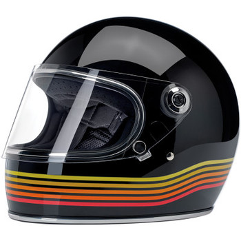 Biltwell Gringo S Full Face DOT & ECE Helmet - Gloss Black Spectrum