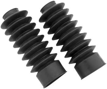 Black Rubber 39mm Fork Boot Gaitors - for Harley Davidson Sportsters