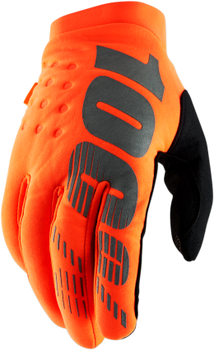 100% Brisker Cold Weather Gloves - Hi Vis Orange