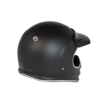Torc Helmets T-3 Moto Classic Helmet - Matte Black