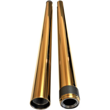 "Pro-One 39MM Gold Harley Fork Tubes -  2"" Over 26.25"""