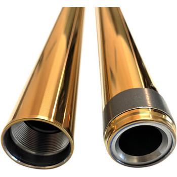"""Pro-One 39MM Gold Harley Fork Tubes -  2"""" Over 26.25"""""""