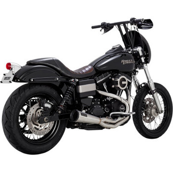 Vance and Hines Stainless 2 Into 1 Upsweep Exhaust System - fits '91-'17 Dyna