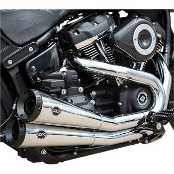 S&S Grand National® 2:2 Exhaust System - Chrome - Softail '18-'19
