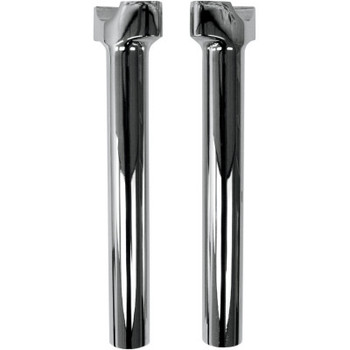 """Drag Specialties 10"""" Buffalo Billet Aluminum Handlebar Risers - Chrome"""