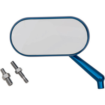 Arlen Ness Oval Mirror Blue