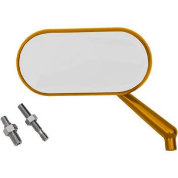 Arlen Ness Oval Harley Mirror Gold