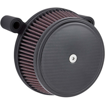Arlen Ness - Stage 1 Big Sucker Air Cleaner Kit Carbon fits '01-'17 Twin Cam EFI Models & '99-'06 CV Carb - Cable Throttle