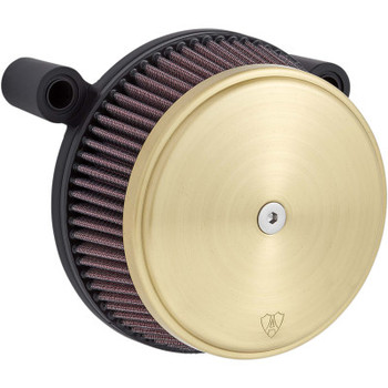 Arlen Ness Stage 1 Big Sucker Air Cleaner Kit Brass fits Twin Cam 1999-2017