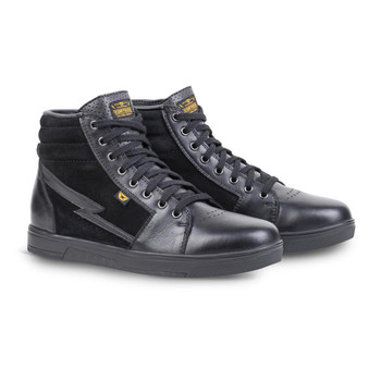 Cortech The Slayer Suede/ Leather High-Top Riding Shoe - Black/ Black