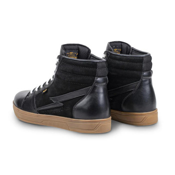 Cortech The Slayer Suede/ Leather High-Top Riding Shoe - Black/ Gum