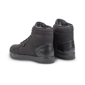 Cortech The Casual Canvas High-Top Riding Shoe - Black/ Black