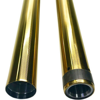 "Pro-One 49MM Gold Coated Harley Fork Tubes - Std. 25.5"" fits '06-'17 Dyna Models"