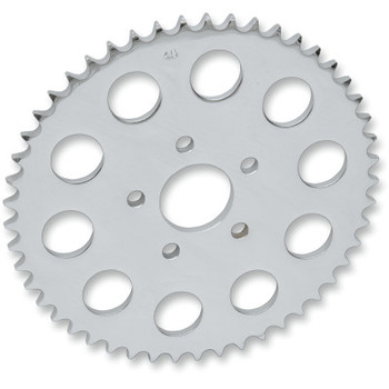 Drag Specialties Chrome Rear Sprocket For 530 Chain - Early (locating ring 1.980) Timken Bearing