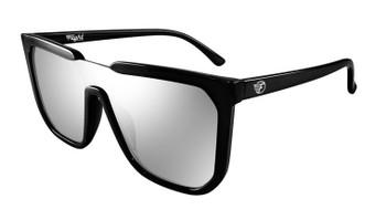 Flight Eyewear Madison Sunglasses - Black Frames / Mirror Lens