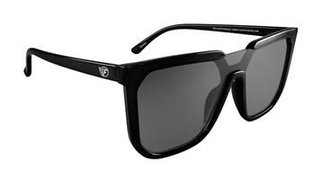 Flight Eyewear Madison Sunglasses - Black Frames / Smoke Lens