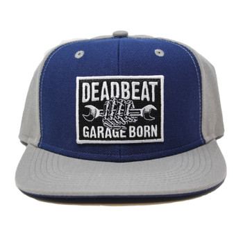 Deadbeat Customs Wrench Snapback - Navy/Grey