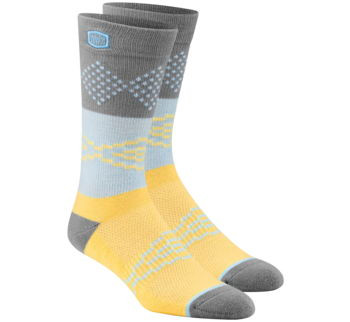 100% Men's Antagonist Socks - Yellow