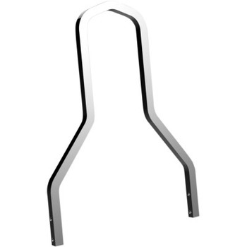 Drag Specialties Square Sissy Bar - Chrome fits Touring and Softail Models (see description)