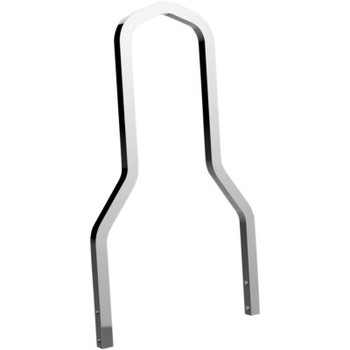Drag Specialties Square Sissy Bar - Chrome fits Touring Softail and Dyna Models