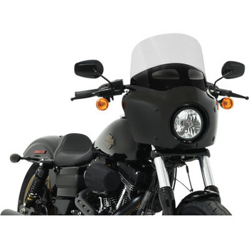 Memphis Shades Road Warrior Vented Windshield - Ghost