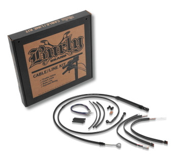 "Burly 14/"" Handlebar Black Brake Line Cable Kit for 2012-2017 Harley Dyna w// ABS"