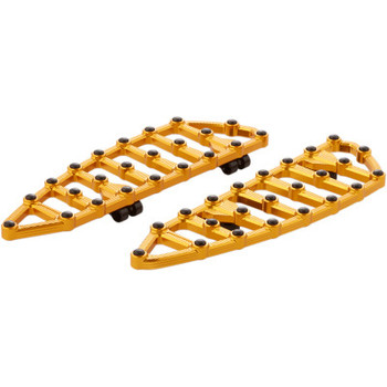 Arlen Ness Billet MX Floorboards fit Harley Touring Models - Gold