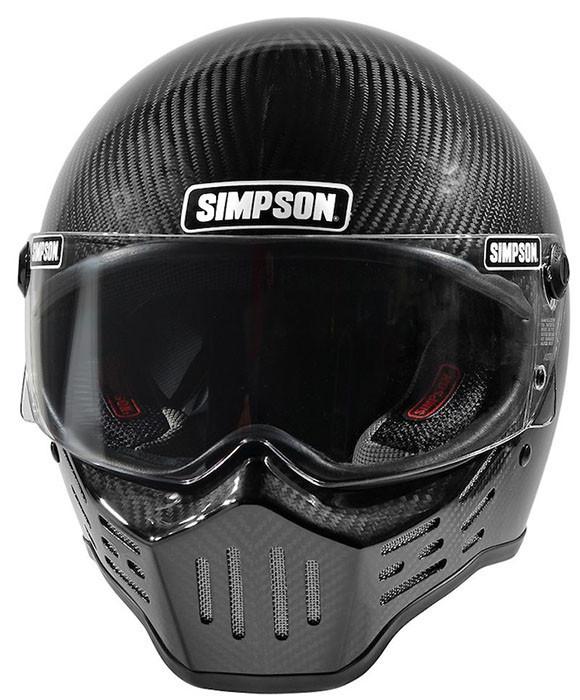 Carbon Fiber Motorcycle Helmets >> Simpson Helmets M30 Dot Approved Helmet Carbon Fiber