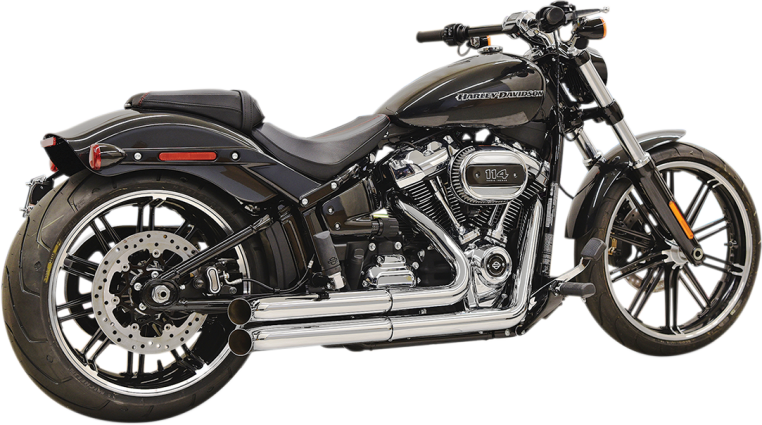 Bassani Pro Street 2 Into 2 Exhaust For 18 Softail