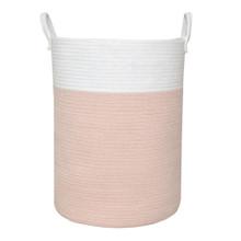 Buy  Living Textiles 100% Cotton Rope Hamper - Blush/White Online at  Babies
