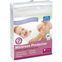 Buy  Protect A Bed Cotton Terry Universal Fitted Cot Online at  Babies