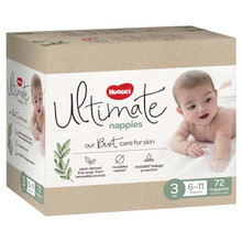 Huggies Ultimate Size 3 Crawler Nappies Unisex - 72s