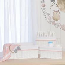 Living Textiles 3pc Storage Set - Blush/White