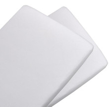 Living Textiles Jersey Bassinet Fitted Sheets - White (2pk)