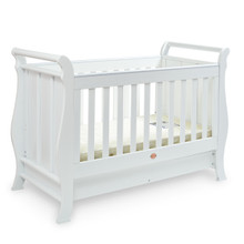 Super Nanny 4 in 1 Classic Sleigh Cot Bed - White