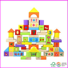 Numbers stacking 72pcs wooden Blocks