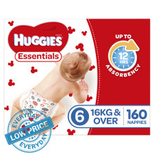 Huggies Essentials Nappies Bulk - Junior