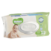 Huggies Wipes Lightly Fragranced Cucumber & Aloe Refill 80s